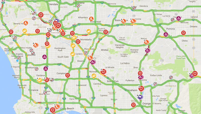 Traffic Data from INRIX Shows You What's Happening Down the Road